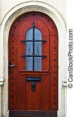 casa de madera, arquitecto, puerta, hogar