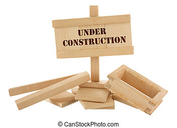 casa de madera, inacabado