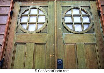 casa de madera, ventana, viejo