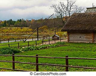 casa de madera, viejo