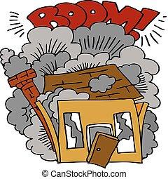 casa, demolición