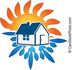 casa, desenho, condicionamento, ar
