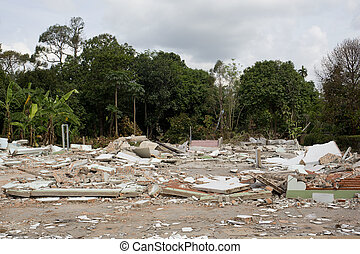 casa, destrucción