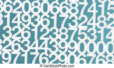 casa, di, numeri, bianco, hd