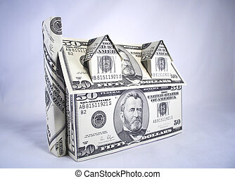 casa, di, soldi