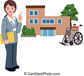 casa, direttore, pensionamento, cura, geriatrico
