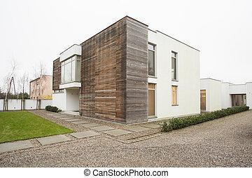 casa, diseñado, costoso
