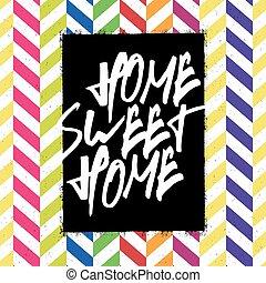 casa, dolce, manifesto