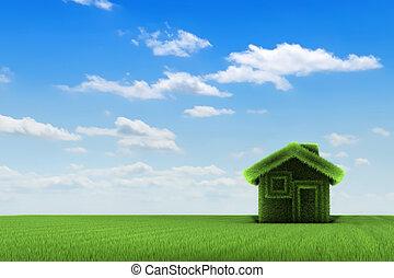 casa, e, campo