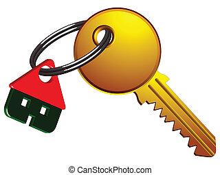 casa, e, chiave