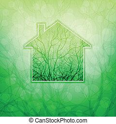 casa, ecológico