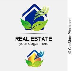 casa, ecologia, verde