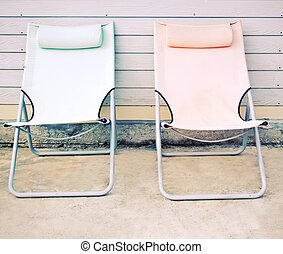 casa, effetto, due, filtro, retro, fronte, panca, spiaggia
