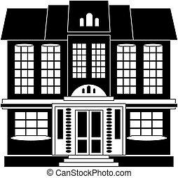 casa, em, estilo clássico