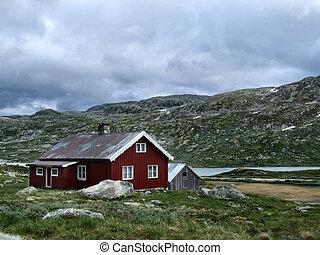 casa, em, noruega