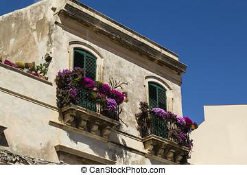 casa, en, syracuse, sicilia