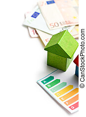 casa, energía, concepto, ahorro