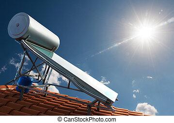 casa, energía, renovable