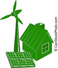 casa, energia alternativa