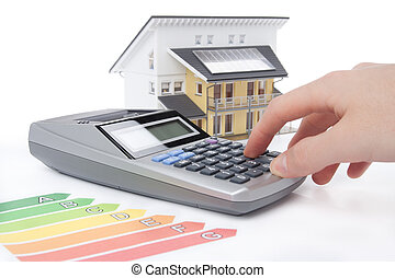 casa, energia, efficienza, valutazione