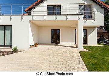 casa, entrada, modernos