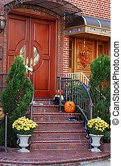 casa, entrada, principal