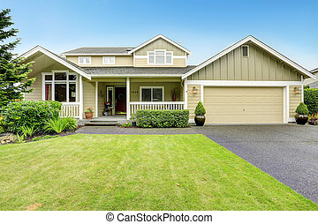 casa, entrata, railings., veranda
