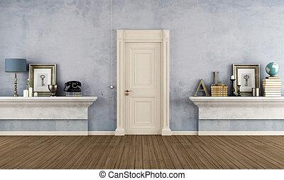 casa, entrata, sh, muratura, retro