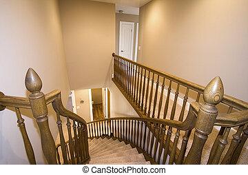 casa, escadaria