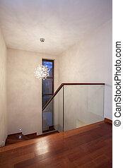 casa, -, escaleras, travertine