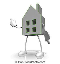 casa, esposizione, carattere, vendita, casa
