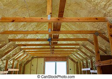 casa, espuma, térmico, hidro, pulverizador, construção,...