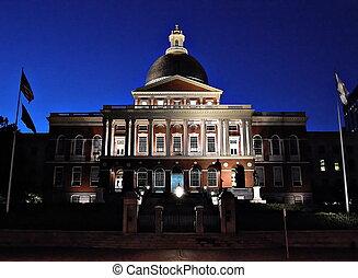 casa, estado, ma, boston