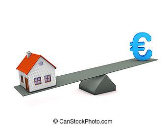 casa, euro, balance