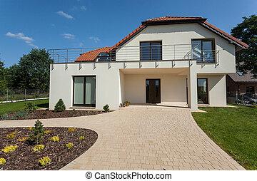 casa, exterior, modernos