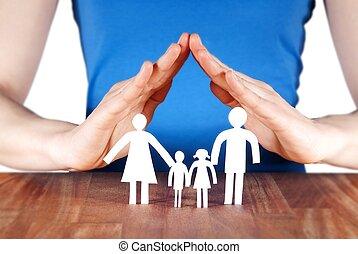 casa, família, mãos