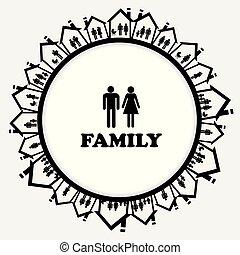casa, famiglia, famiglia, icona