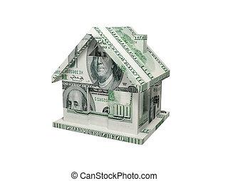 casa, fatto, soldi.