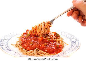 casa fece, spaghetti