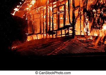 casa, fire.
