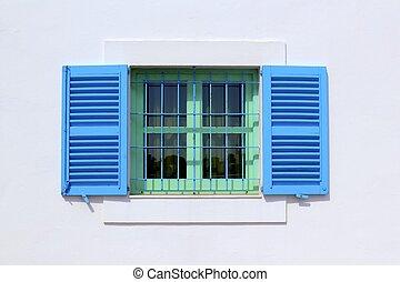 casa, formentera, ventana, arquitectura, islas, balear