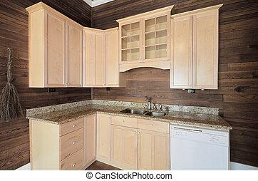 casa, gabinetto, cucina