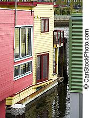 casa, galleggiante