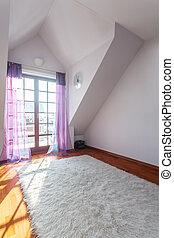 casa, -, habitación, vacío, elegante