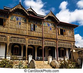 casa, harar, museu, etiópia, rimbaud, exterior, jugol, vista