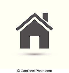casa, icon., vettore, illustrazione