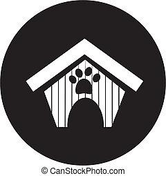 casa, icono de perro