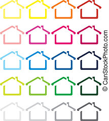 casa, imagen, vector