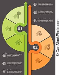 casa, infographic, desenho, vário, ícones