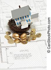casa, investimento, concetto
